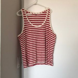 Women's Madewell Striped Tank, Size Large